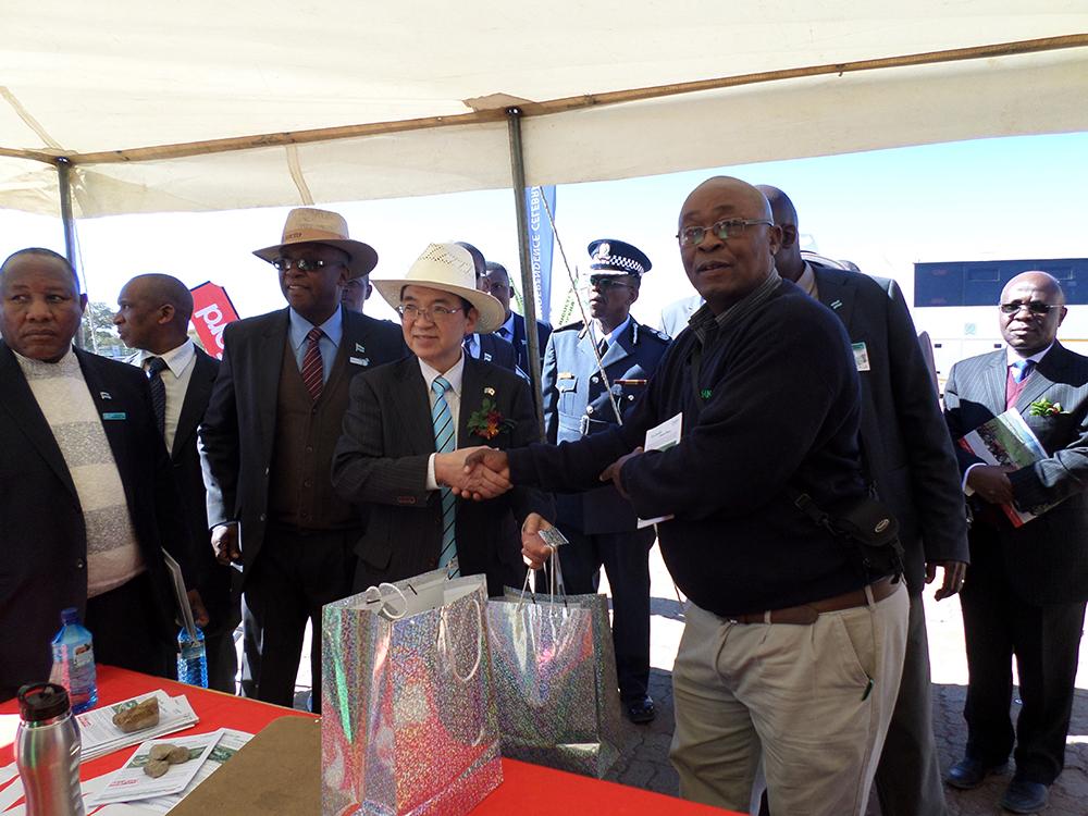 Botswana Agric Expo Japanese Ambassodor